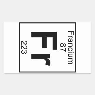Element 087 - Fr - Francium (Full) Rectangular Sticker