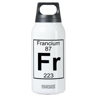 Element 087 - Fr - Francium (Full) 10 Oz Insulated SIGG Thermos Water Bottle