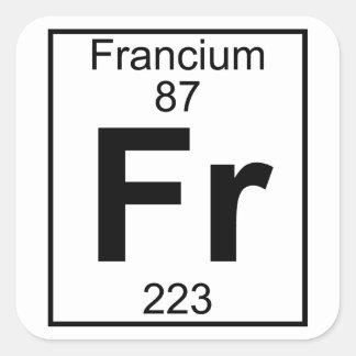 Element 087 - Fr - Francium (Full) Square Sticker