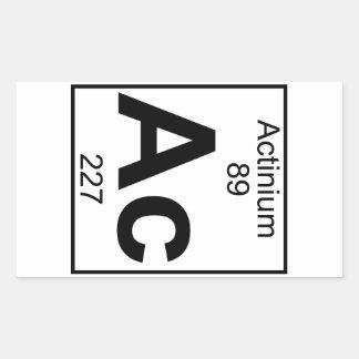 Element 089 - Ac - Actinium (Full) Rectangular Sticker