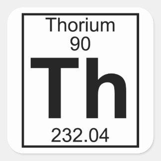Element 090 - Th - Thorium (Full) Square Sticker
