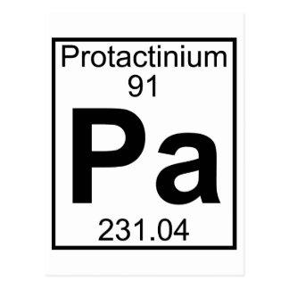 Element 091 - Pa - Protactinium (Full) Postcard