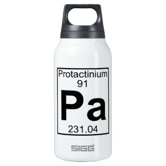 Element 091 - Pa - Protactinium (Full) 10 Oz Insulated SIGG Thermos Water Bottle