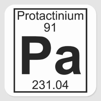 Element 091 - Pa - Protactinium (Full) Square Sticker