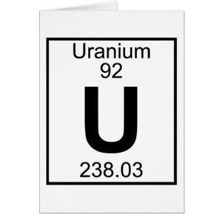 Element 092 - U - Uranium (Full) Card