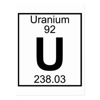 Element 092 - U - Uranium (Full) Postcard