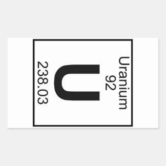 Element 092 - U - Uranium (Full) Rectangular Sticker