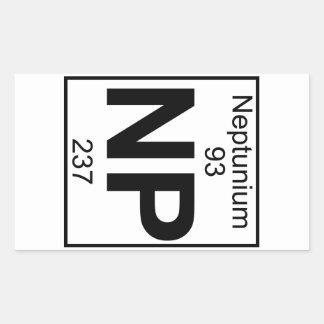Element 093 - Np - Neptunium (Full) Rectangular Sticker