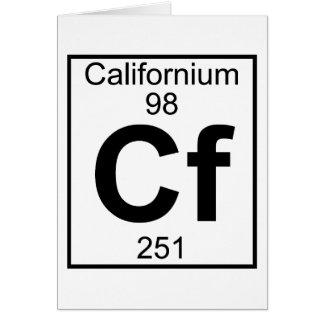 Element 098 - Cf - Californium (Full) Card