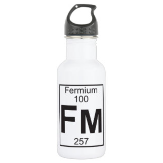 Element 100 - fm (fermium) stainless steel water bottle
