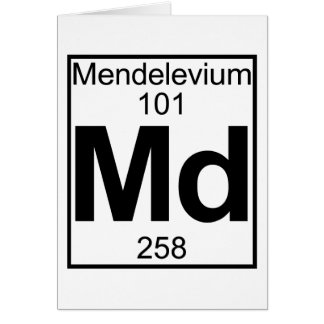 Element 101 - Md - Mendelevium (Full) Card