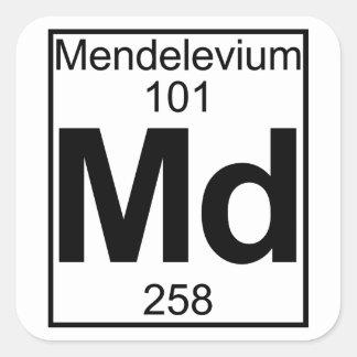 Element 101 - Md - Mendelevium (Full) Square Sticker