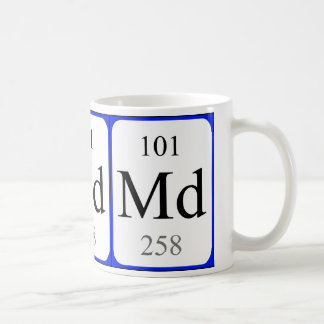 Element 101 white mug - Mendelevium