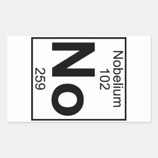 Element 102 - No - Nobelium (Full) Rectangular Sticker
