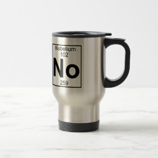 Element 102 - No - Nobelium (Full) Travel Mug