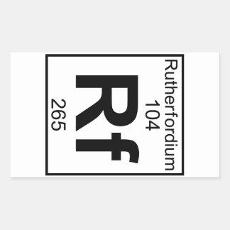 Element 104 - Rf - Rutherfordium (Full) Rectangular Sticker
