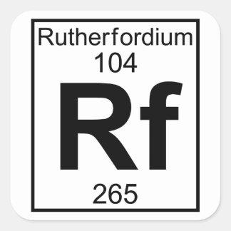 Element 104 - Rf - Rutherfordium (Full) Square Sticker