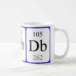 Element 105 white mug - Dubnium