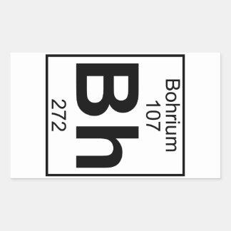 Element 107 - Bh - Bohrium (Full) Rectangular Sticker