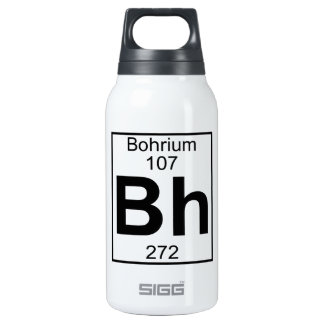 Element 107 - Bh - Bohrium (Full) 10 Oz Insulated SIGG Thermos Water Bottle