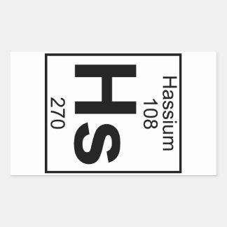 Element 108 - Hs - Hassium (Full) Rectangular Sticker