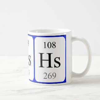 Element 108 white mug - Hassium
