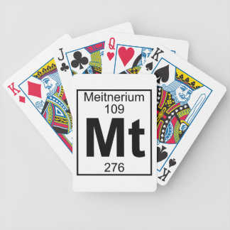 Element 109 - Mt - Meitnerium (Full) Bicycle Playing Cards