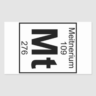 Element 109 - Mt - Meitnerium (Full) Rectangular Sticker