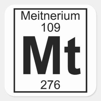 Element 109 - Mt - Meitnerium (Full) Square Sticker