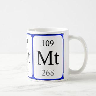 Element 109 white mug - Meitnerium