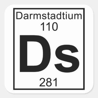 Element 110 - Ds - Darmstadtium (Full) Square Sticker