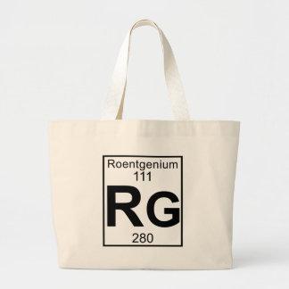 Element 111 - Rg - Roentgenium (Full) Large Tote Bag