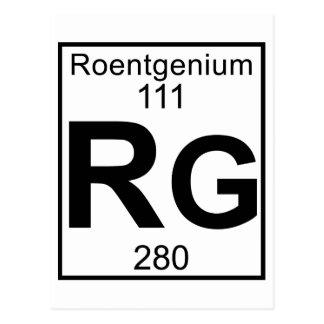Element 111 - Rg - Roentgenium (Full) Postcard