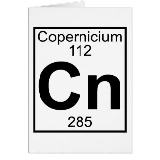 Element 112 - Cn - Copernicium (Full) Card