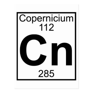 Element 112 - Cn - Copernicium (Full) Postcard