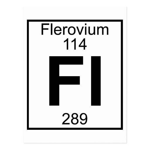 Element 114 fl flerovium full postcard zazzle for 114 element periodic table