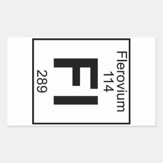 Element 114 - Fl - Flerovium (Full) Rectangular Sticker