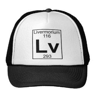 Element 116 - Lv - Livermorium (Full) Mesh Hats