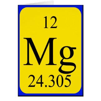 Element 12 card - Magnesium