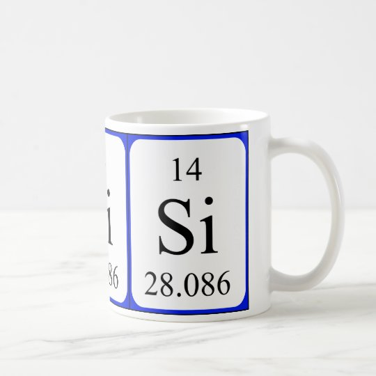 Element 14 white mug - Silicon