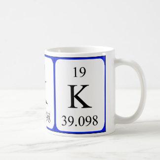 Element 19 white mug - Potassium