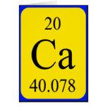 Element 20 card - Calcium