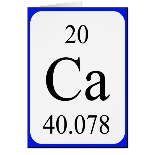 Element 20 card - Calcium white