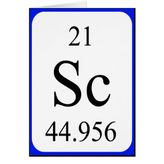 Element 21 card - Scandium white