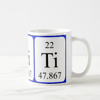 Element 22 white mug - Titanium