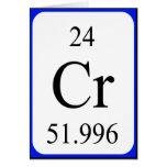 Element 24 card - Chromium white