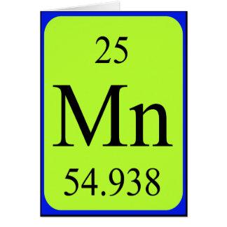 Element 25 card - Manganese