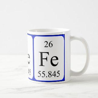 Element 26 white mug - Iron