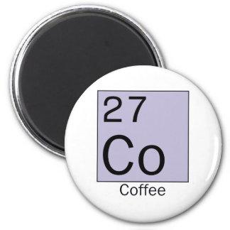 Element 27: coffee 2 inch round magnet