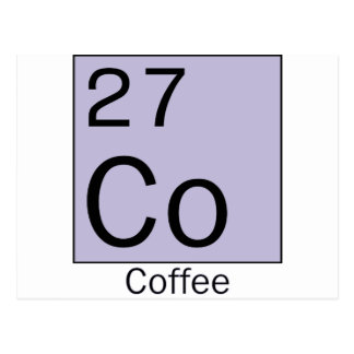 Element 27: coffee postcard